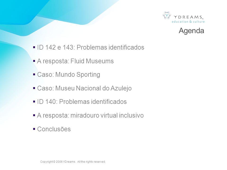 Agenda ID 142 e 143: Problemas identificados A resposta: Fluid Museums