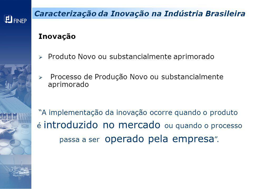 Caracterização da Inovação na Indústria Brasileira