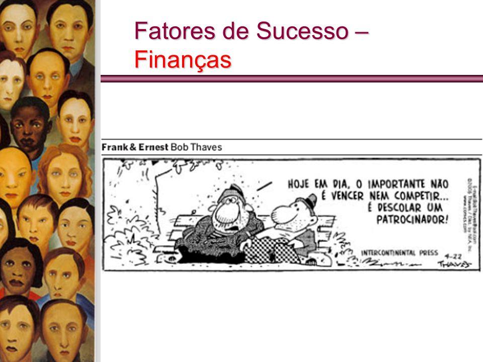 Fatores de Sucesso – Finanças