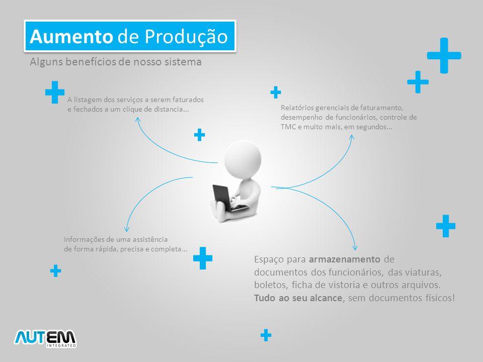 + + Aumento de Produção Alguns benefícios de nosso sistema