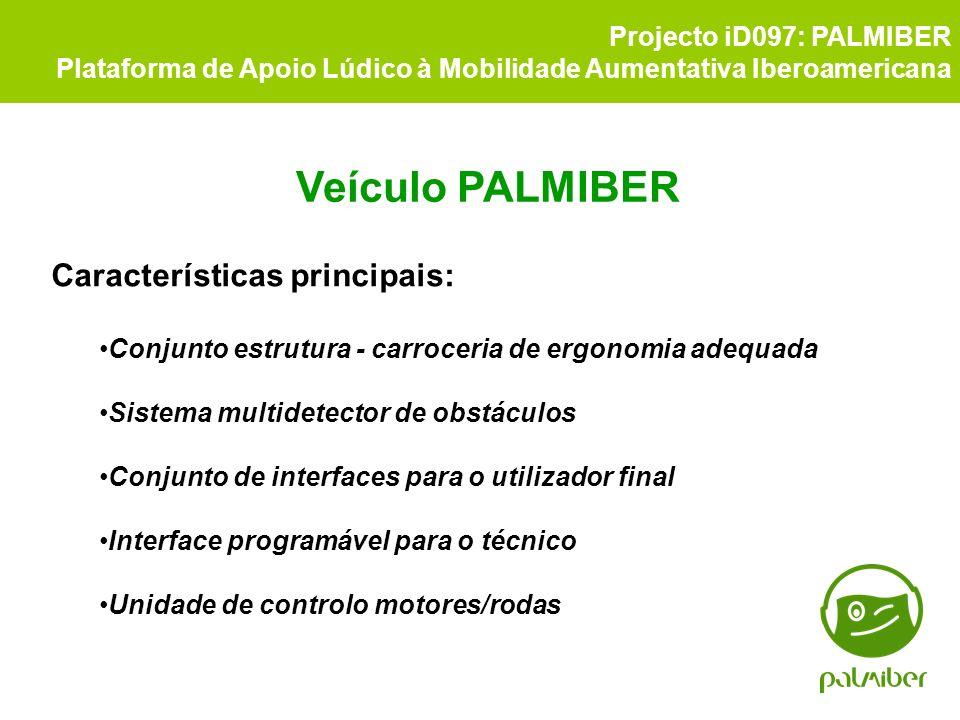 Veículo PALMIBER Características principais: Projecto iD097: PALMIBER