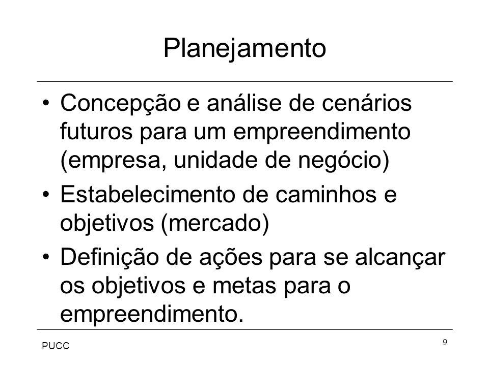 Planejamento Concepção e análise de cenários futuros para um empreendimento (empresa, unidade de negócio)