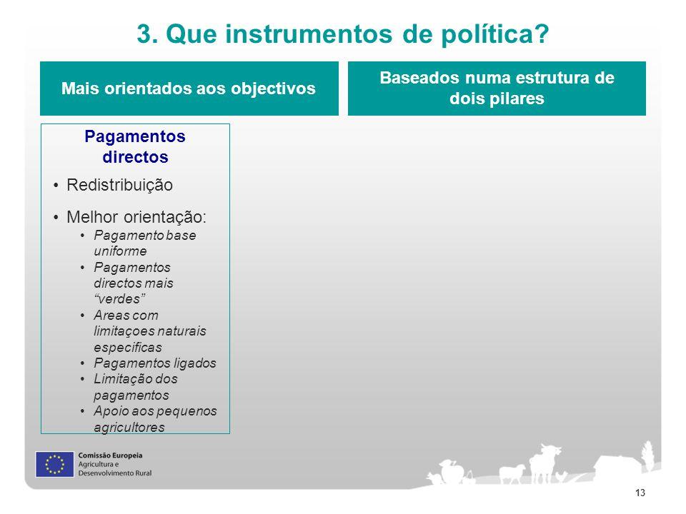 3. Que instrumentos de política