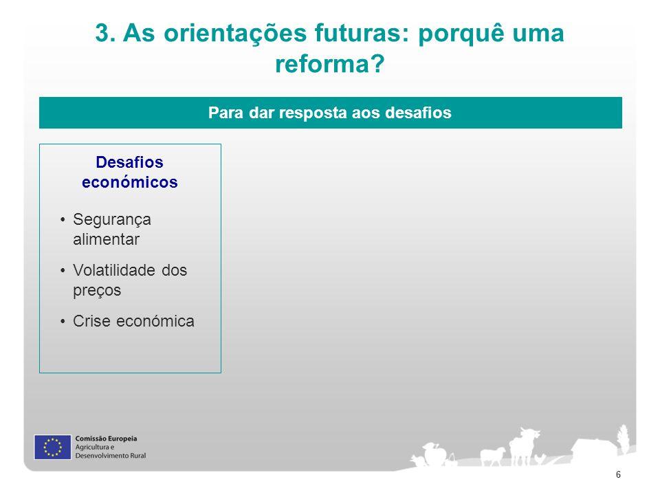 3. As orientações futuras: porquê uma reforma