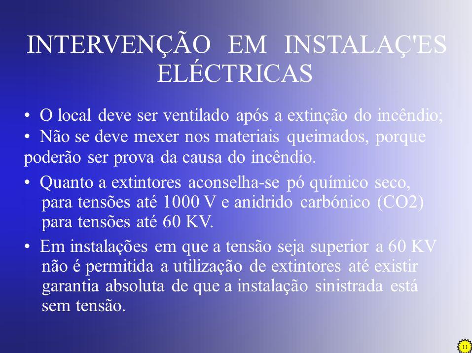INTERVENÇÃO EM INSTALAÇ ES ELÉCTRICAS