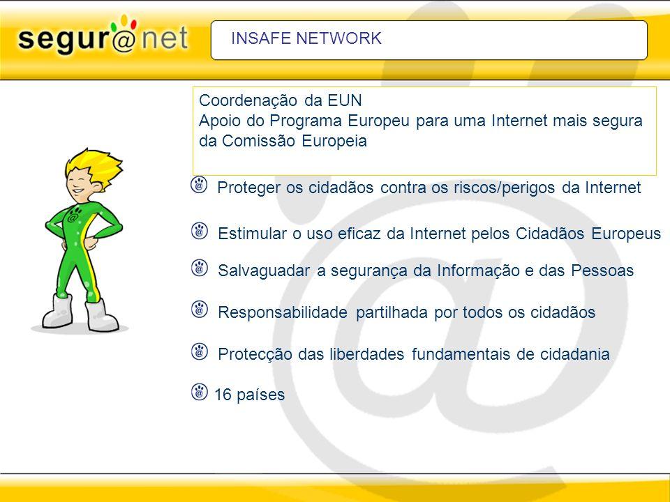 INSAFE NETWORK Coordenação da EUN. Apoio do Programa Europeu para uma Internet mais segura. da Comissão Europeia.