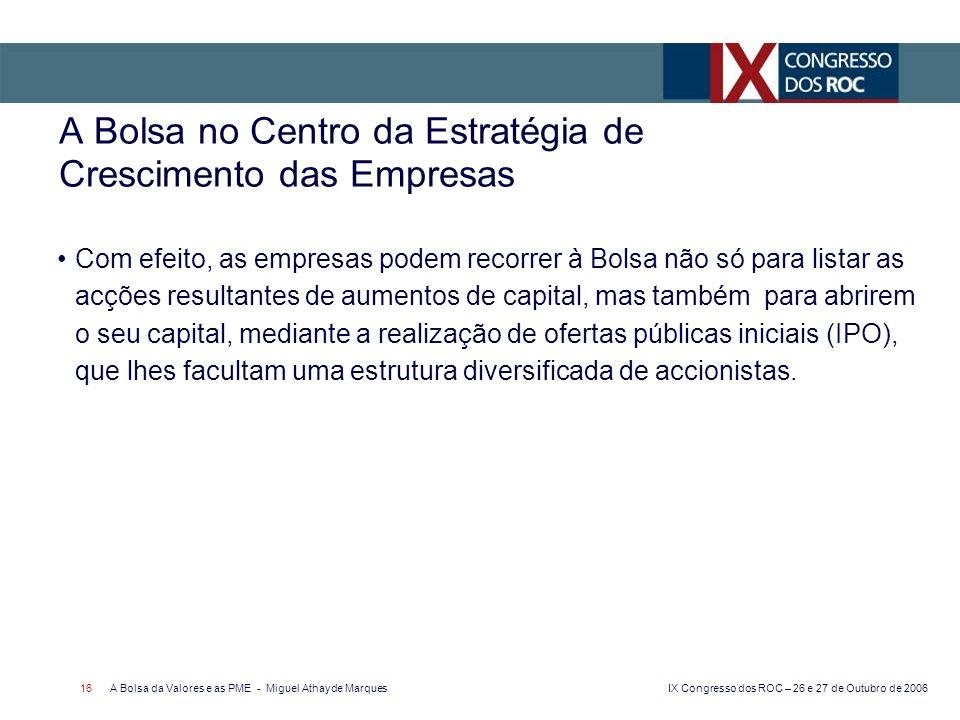 A Bolsa no Centro da Estratégia de Crescimento das Empresas