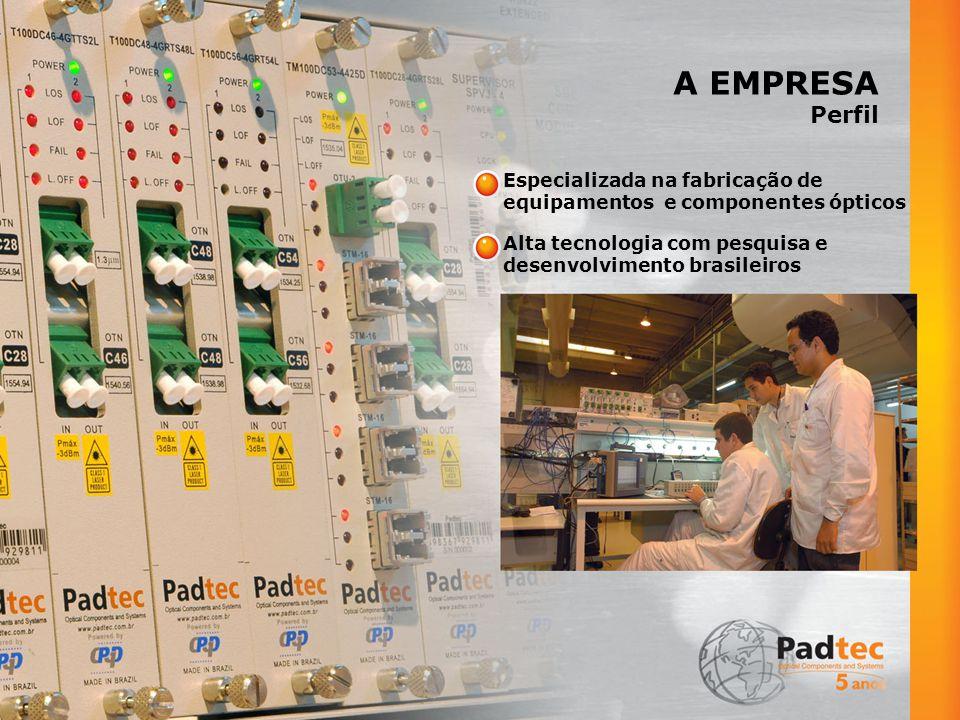 A EMPRESA Perfil Especializada na fabricação de