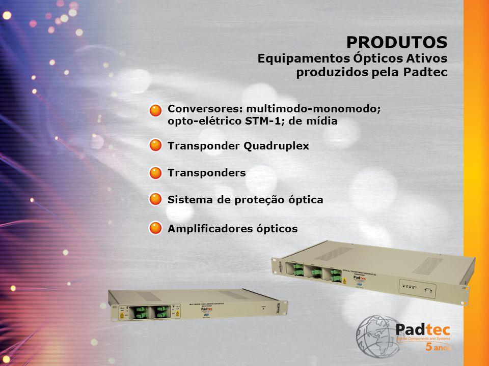 PRODUTOS Equipamentos Ópticos Ativos produzidos pela Padtec