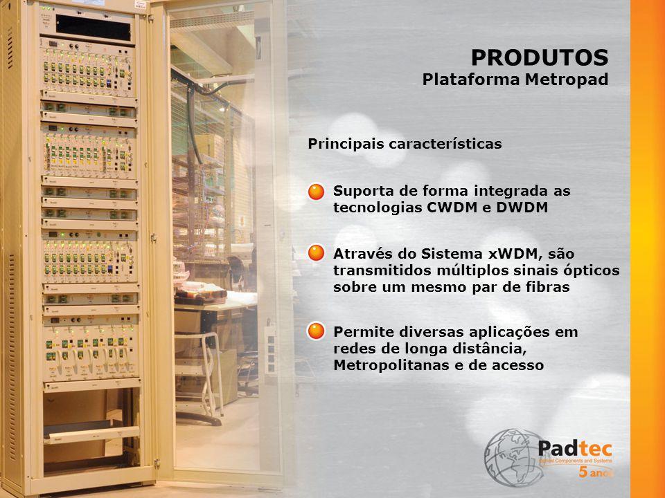 PRODUTOS Plataforma Metropad Principais características