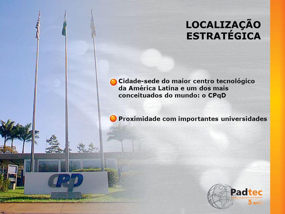 LOCALIZAÇÃO ESTRATÉGICA Cidade-sede do maior centro tecnológico
