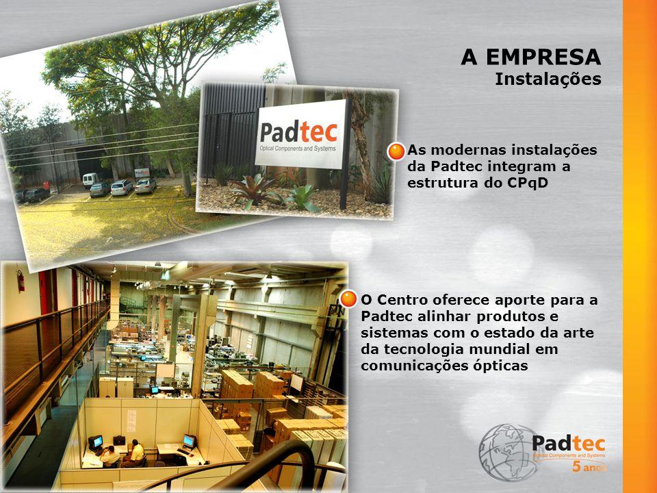 A EMPRESA Instalações As modernas instalações da Padtec integram a