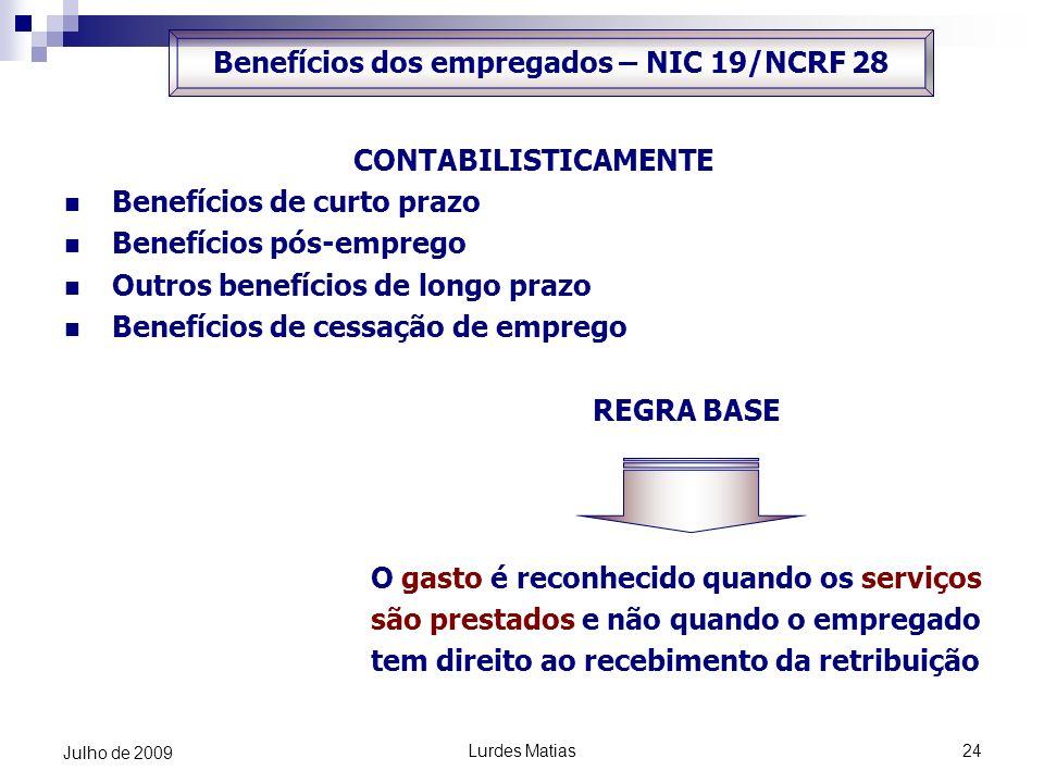 Benefícios dos empregados – NIC 19/NCRF 28