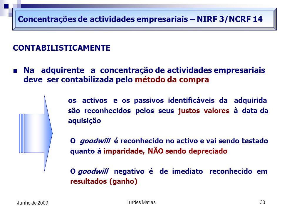 Concentrações de actividades empresariais – NIRF 3/NCRF 14