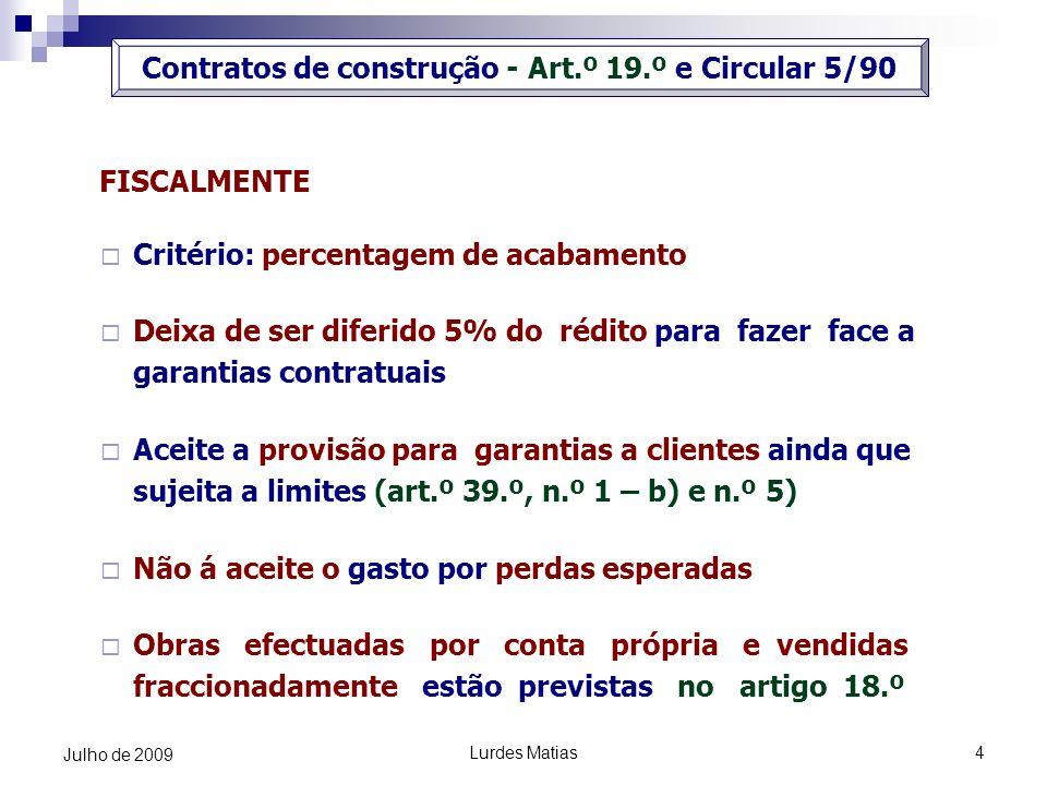 Contratos de construção - Art.º 19.º e Circular 5/90