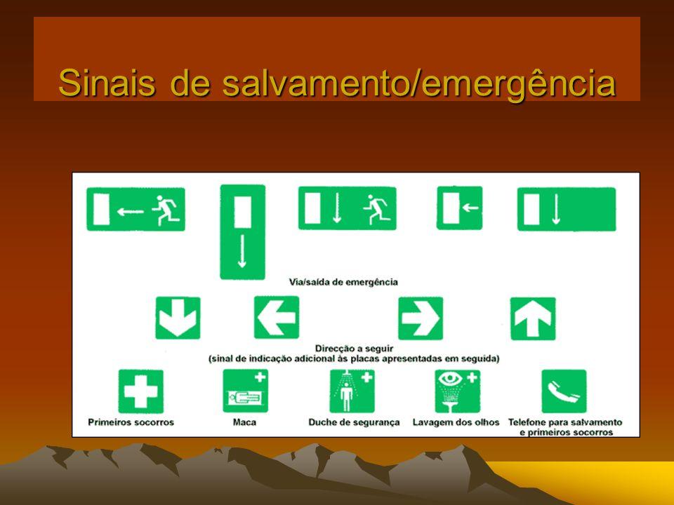 Sinais de salvamento/emergência