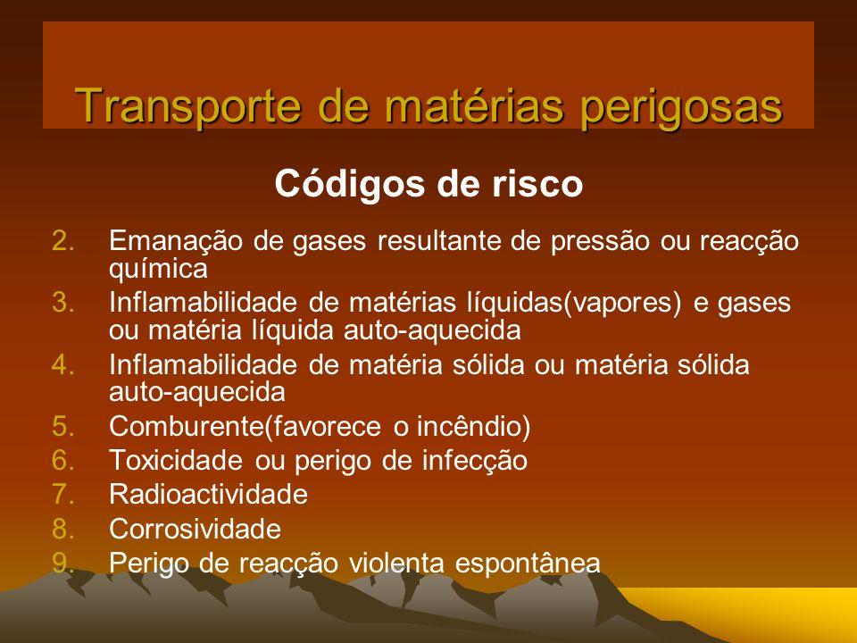 Transporte de matérias perigosas