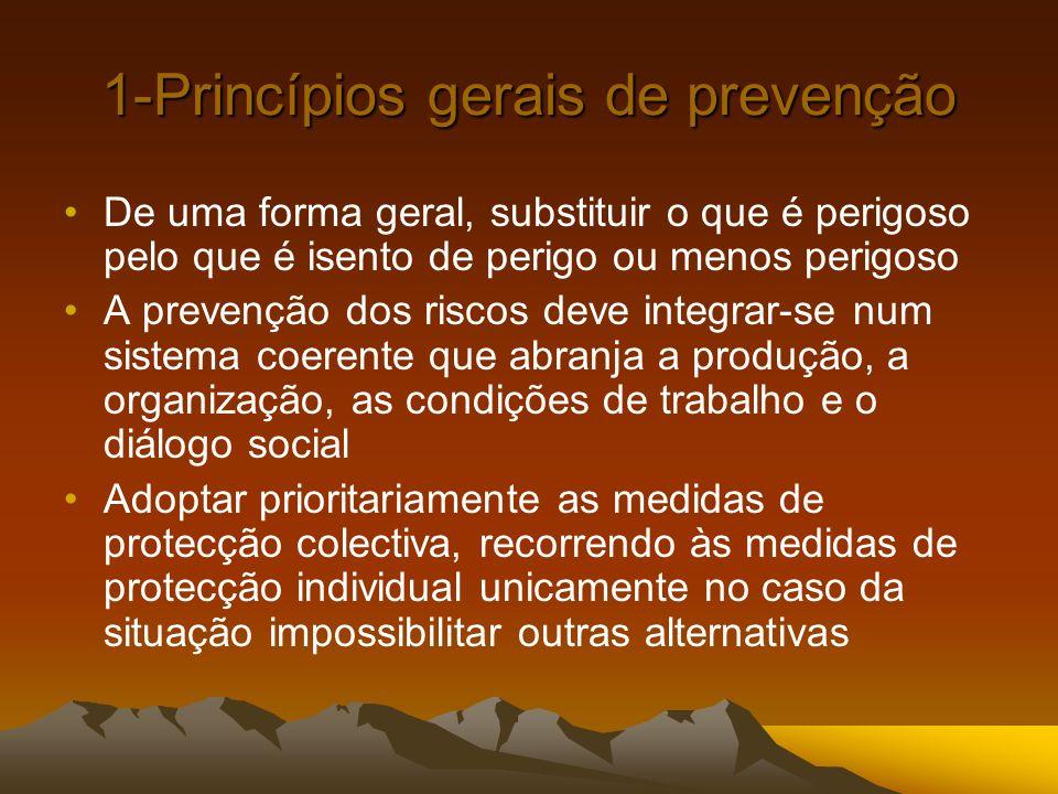 1-Princípios gerais de prevenção