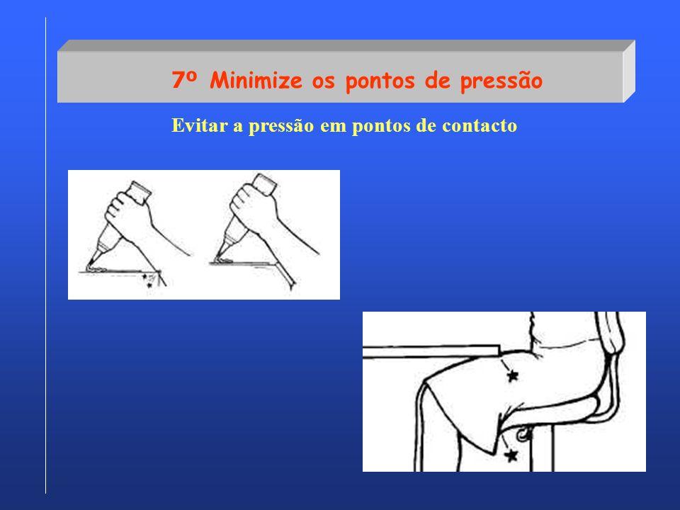 7º Minimize os pontos de pressão