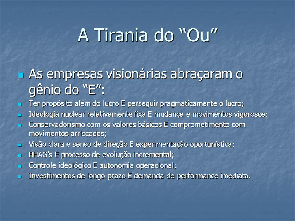 A Tirania do Ou As empresas visionárias abraçaram o gênio do E :