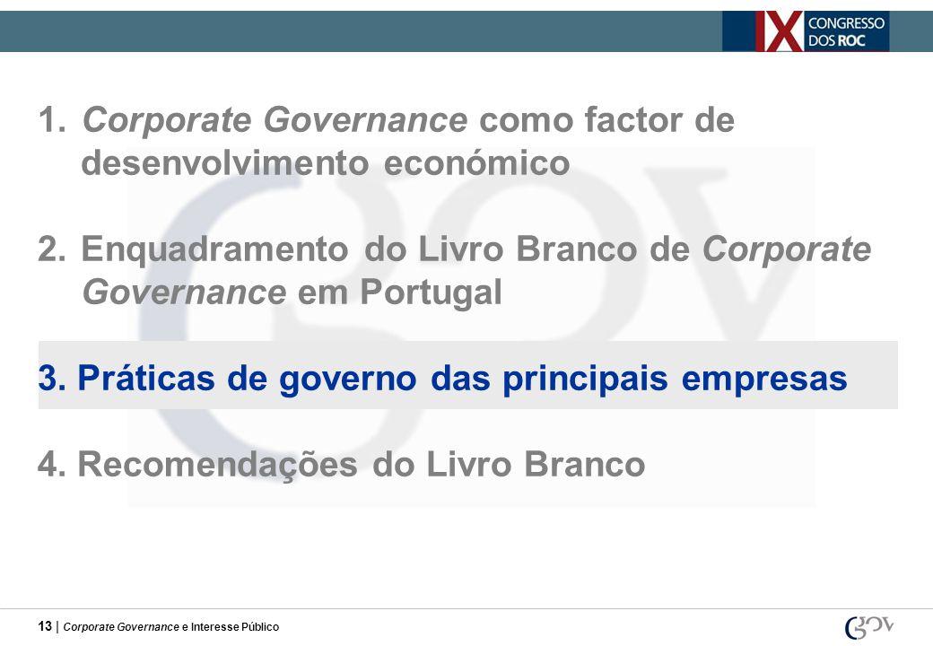 1. Corporate Governance como factor de desenvolvimento económico
