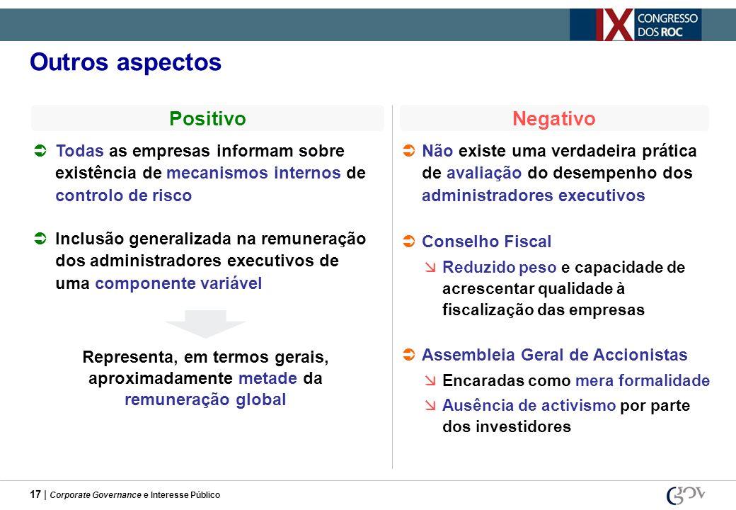 Outros aspectos Positivo Negativo