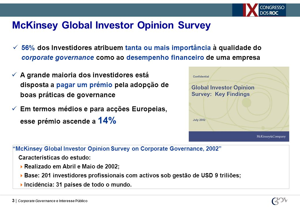 McKinsey Global Investor Opinion Survey