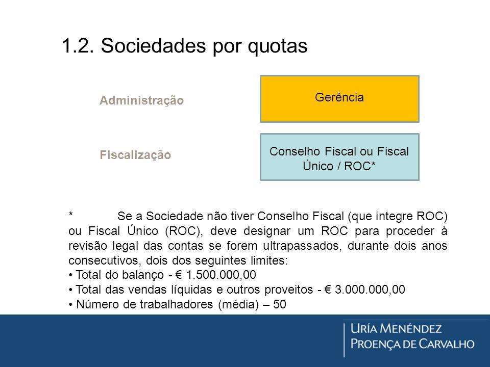 Conselho Fiscal ou Fiscal Único / ROC*
