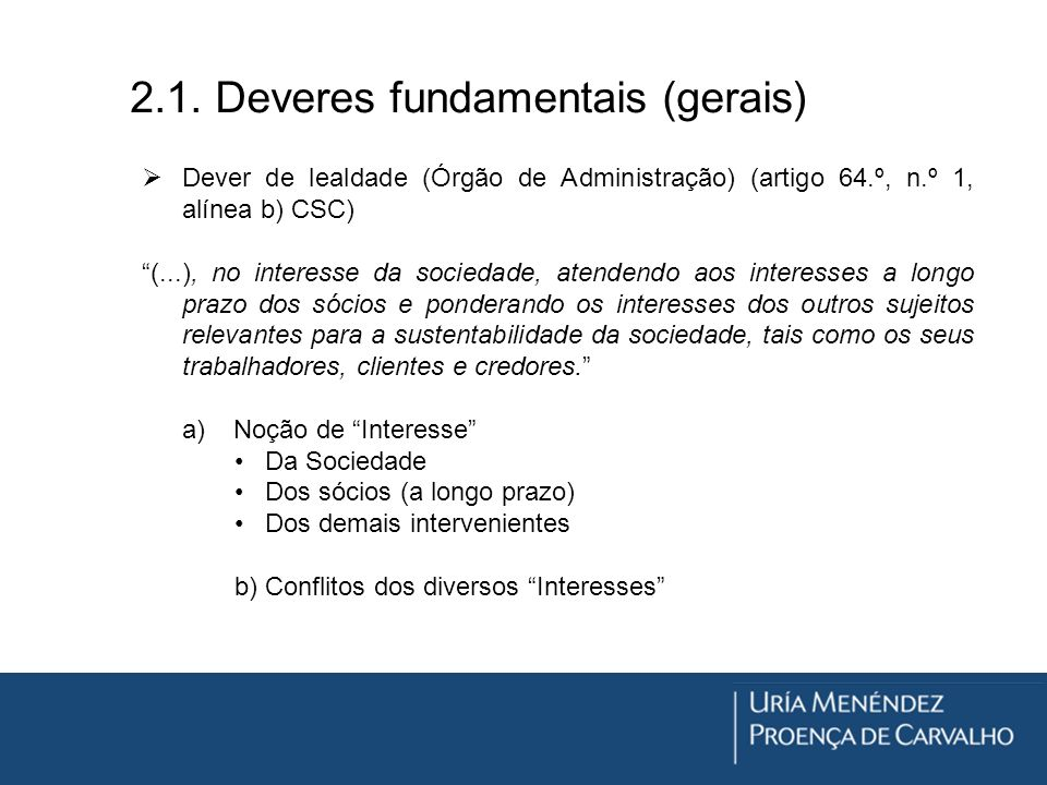 2.1. Deveres fundamentais (gerais)