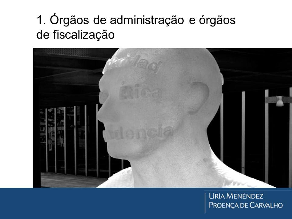 1. Órgãos de administração e órgãos de fiscalização