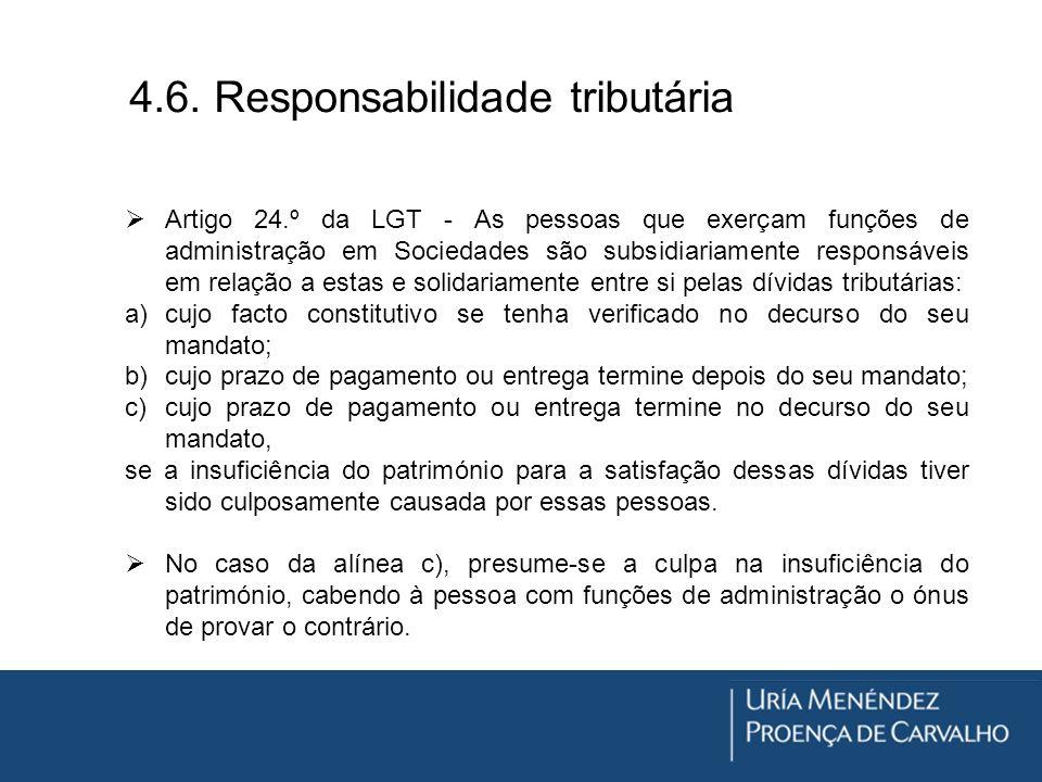4.6. Responsabilidade tributária