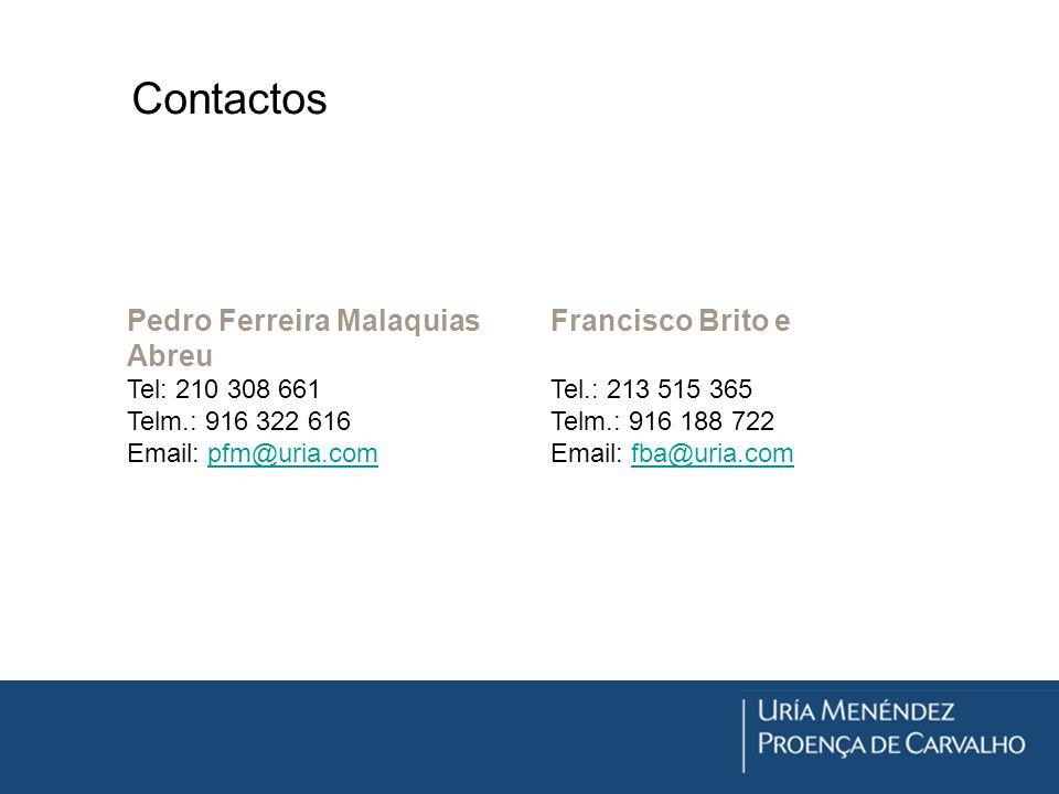 Contactos Pedro Ferreira Malaquias Francisco Brito e Abreu