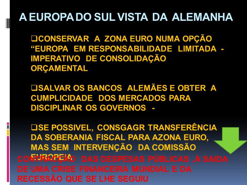 A EUROPA DO SUL VISTA DA ALEMANHA