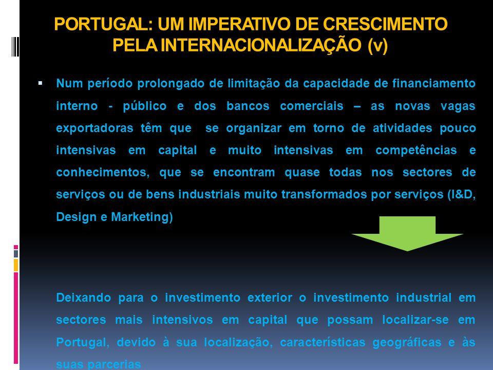 PORTUGAL: UM IMPERATIVO DE CRESCIMENTO PELA INTERNACIONALIZAÇÃO (v)