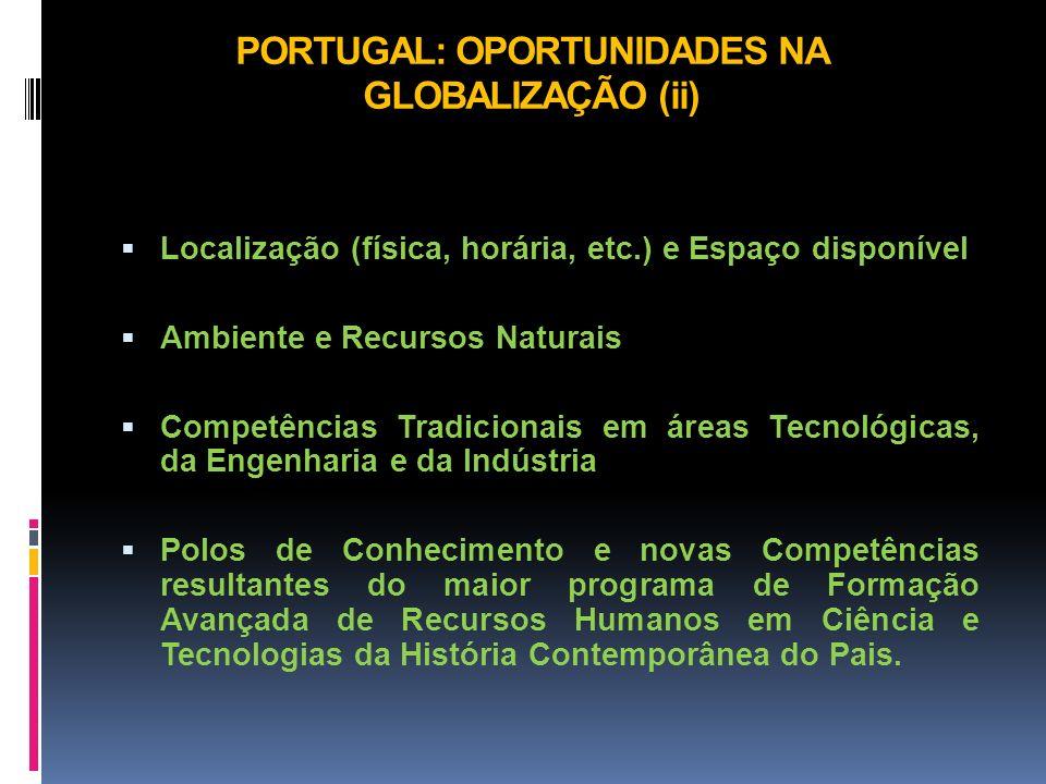 PORTUGAL: OPORTUNIDADES NA GLOBALIZAÇÃO (ii)