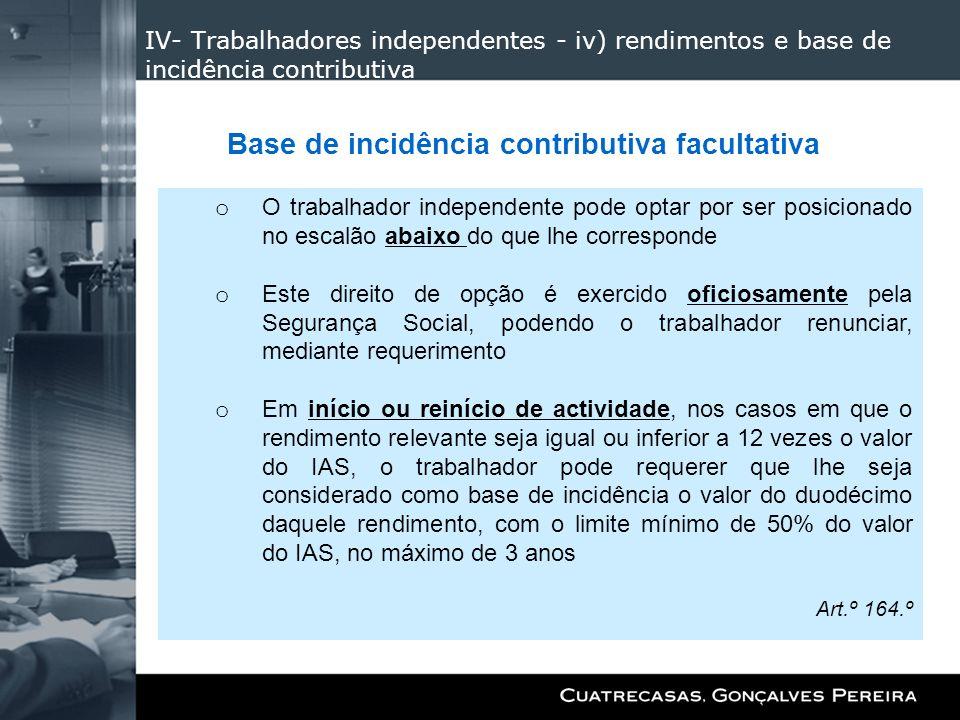 Base de incidência contributiva facultativa