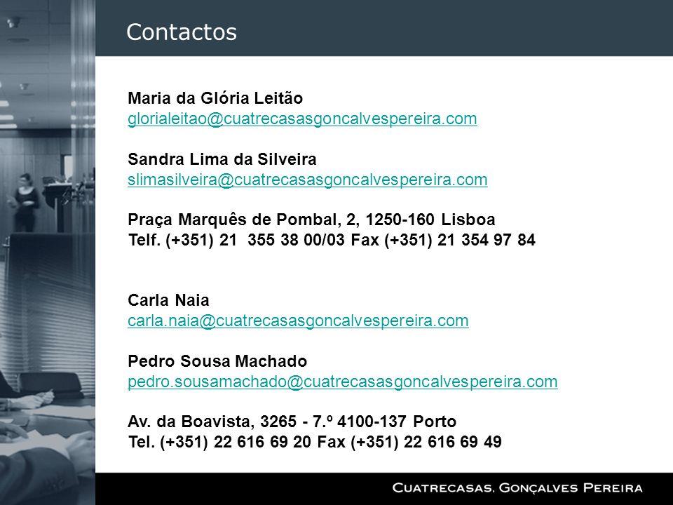 Contactos Maria da Glória Leitão