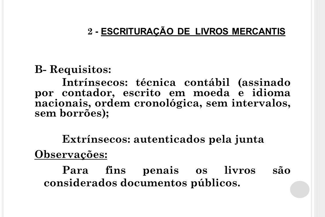 2 - ESCRITURAÇÃO DE LIVROS MERCANTIS