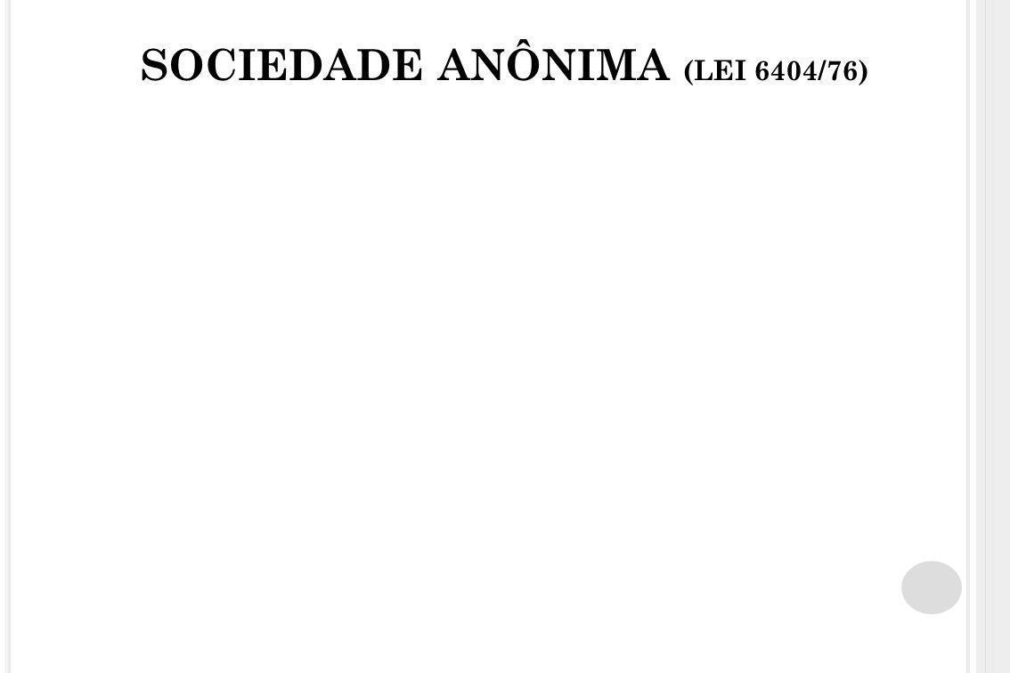 SOCIEDADE ANÔNIMA (LEI 6404/76)