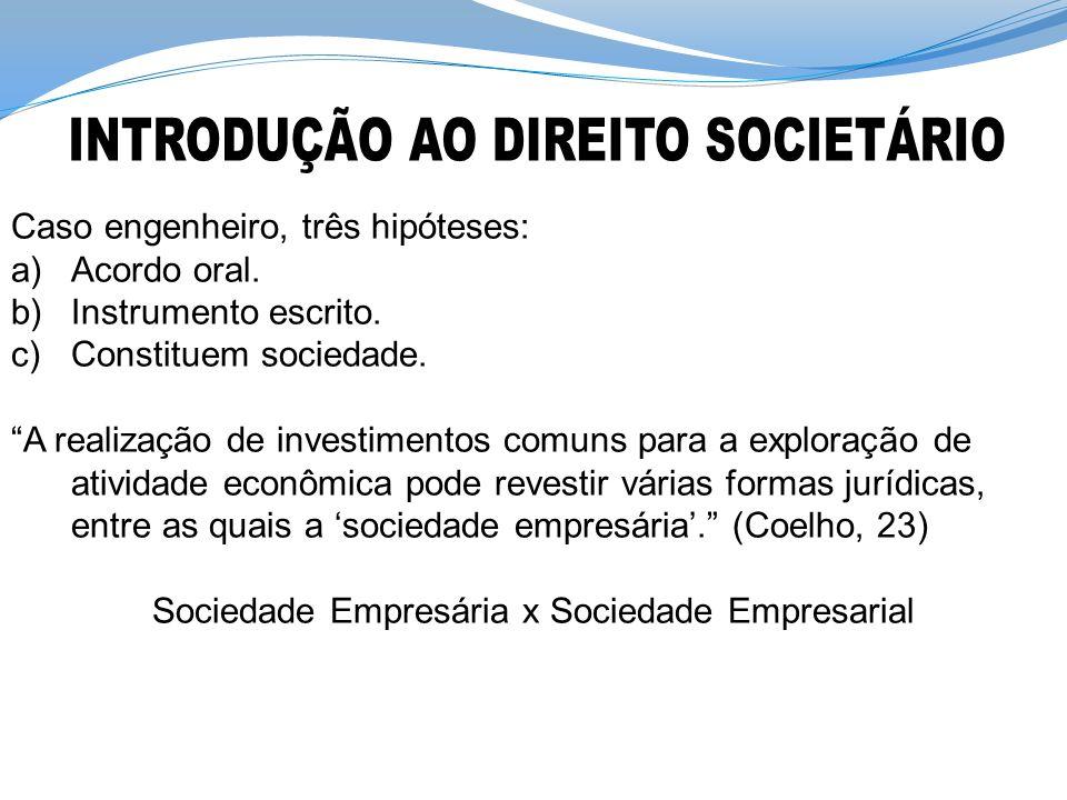 INTRODUÇÃO AO DIREITO SOCIETÁRIO