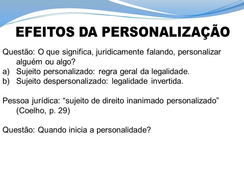 EFEITOS DA PERSONALIZAÇÃO