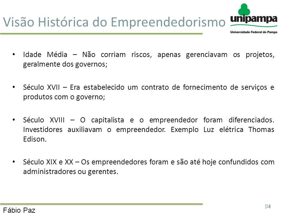 Visão Histórica do Empreendedorismo