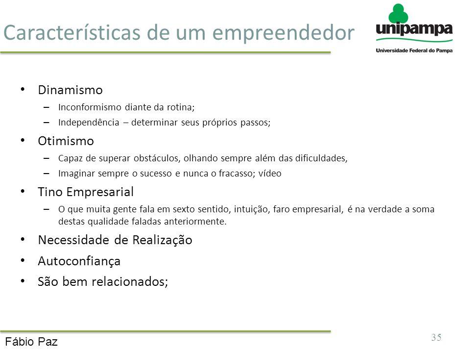 Características de um empreendedor