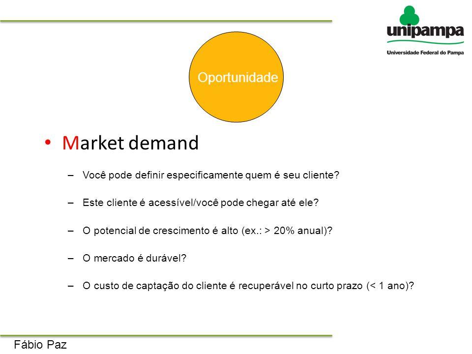 Market demand Oportunidade Fábio Paz