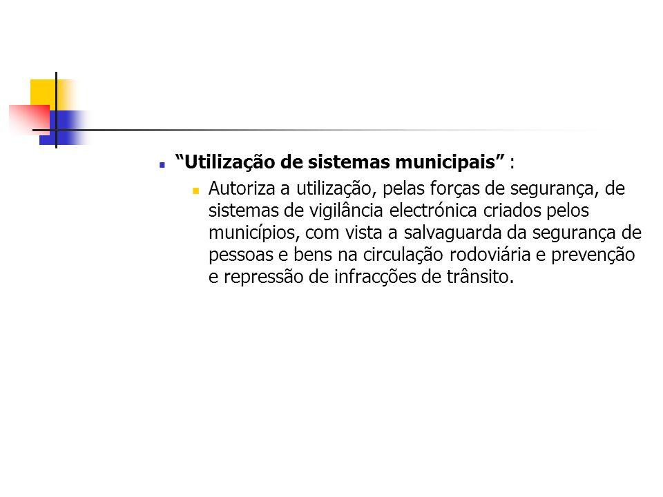 Utilização de sistemas municipais :