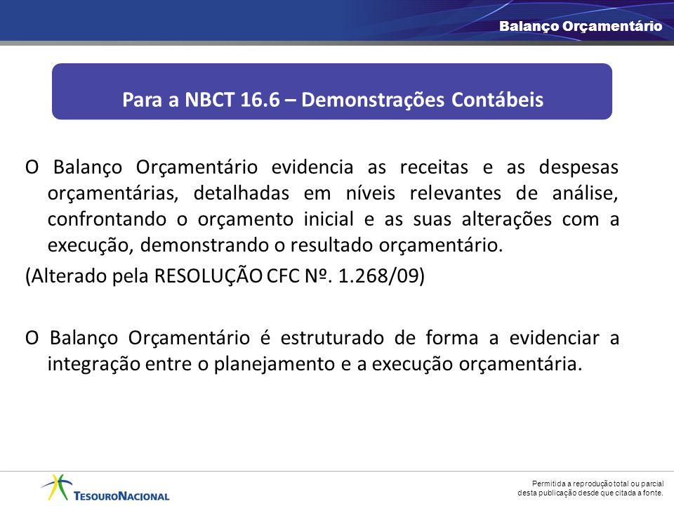 Para a NBCT 16.6 – Demonstrações Contábeis