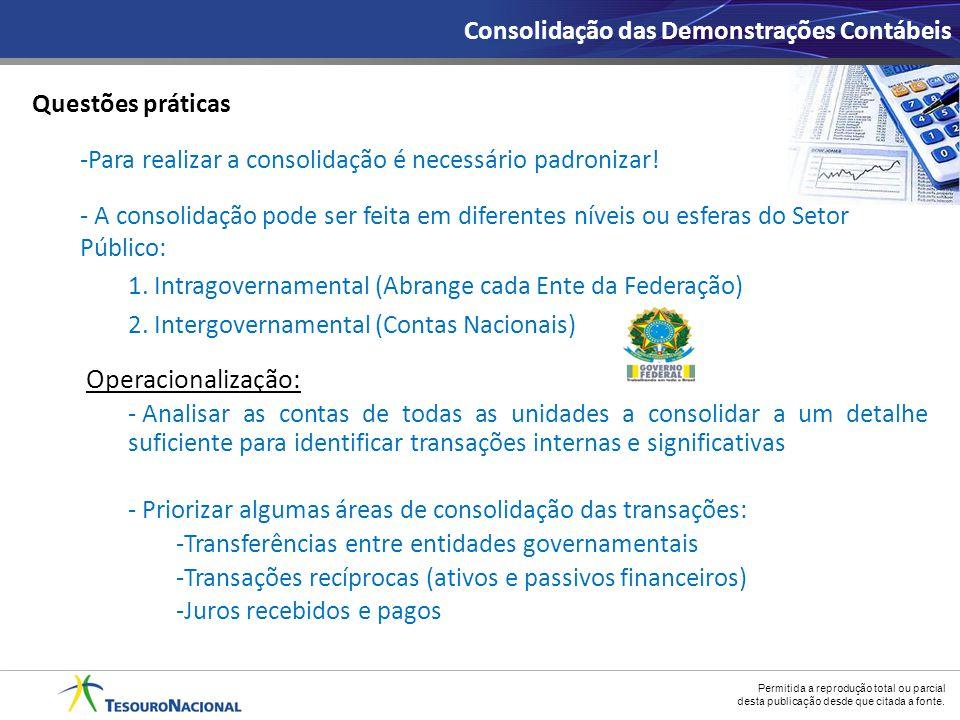 Operacionalização: Consolidação das Demonstrações Contábeis
