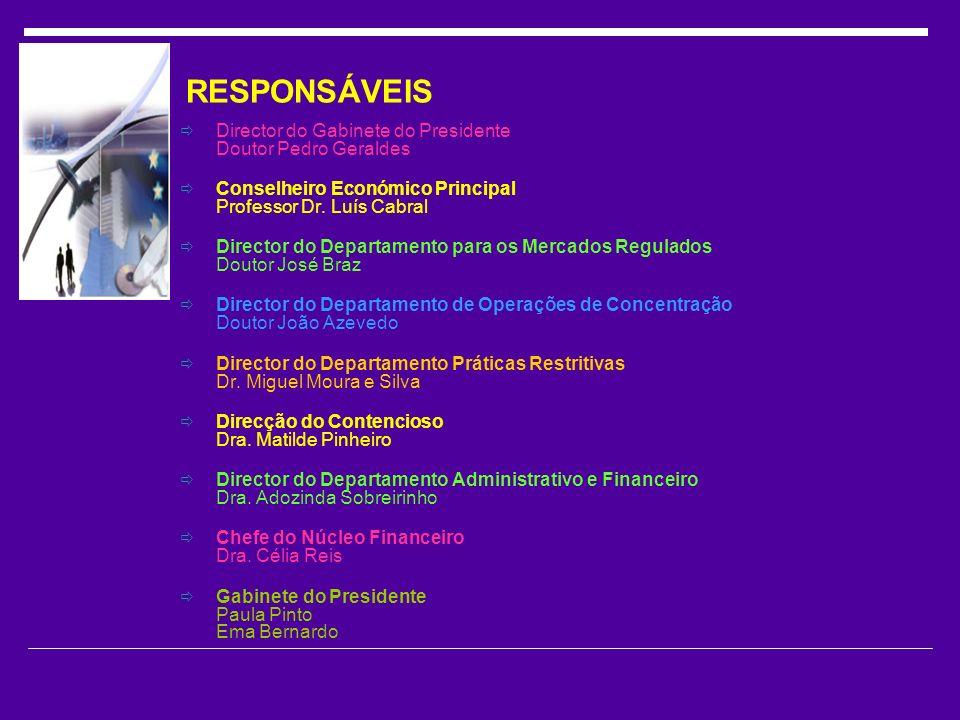 RESPONSÁVEIS Director do Gabinete do Presidente Doutor Pedro Geraldes