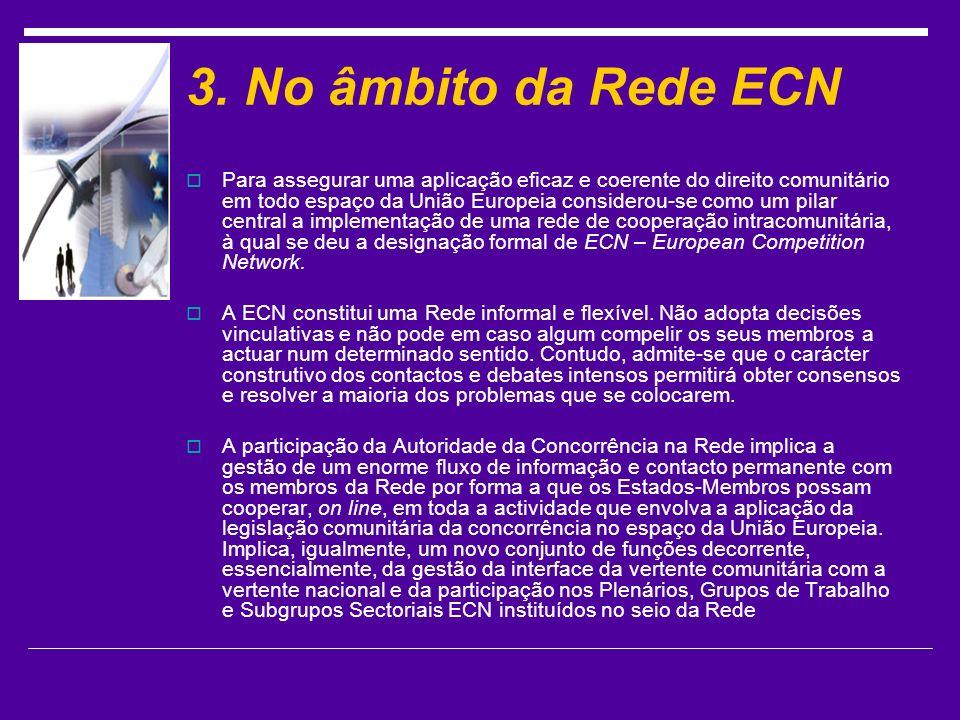 3. No âmbito da Rede ECN
