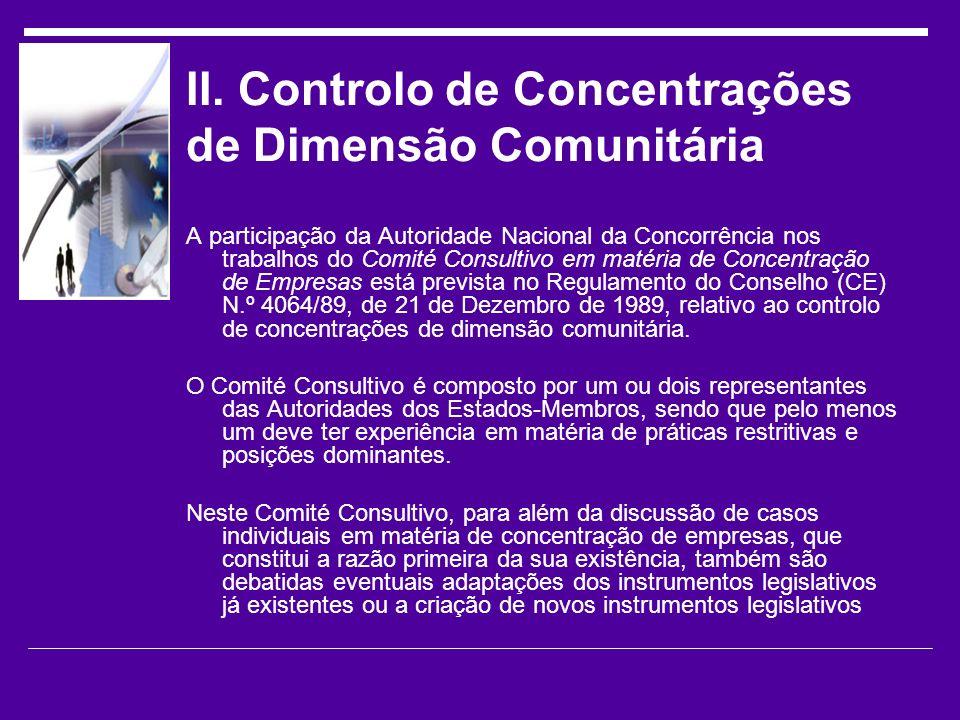 II. Controlo de Concentrações de Dimensão Comunitária